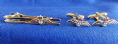 FLEET AIR ARM ( FAA )  CUFF LINK AND TIE GRIP / CLIP SET